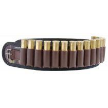 Патронташ камуфлированный открытый 24 патрона 16-20к. с регулирующимся кожаным ремнем