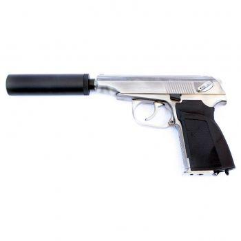 Купить пистолет WE Makarov 654K (GP118S WE-MA001-SV)