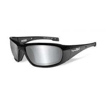 Очки баллистические Wiley X BOSS Grey Silver Flash Gloss (CCBOS01)