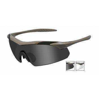 Баллистические очки WX VAPOR 3511. Оправа: TAN. Линзы: Smoke/Clear