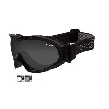Тактическая маска WX NERVE R-8051. Линзы: Smoke/Clear