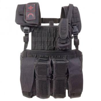 Разгрузка автоматчика №2: нагрудно-плечевая система, подсумок ИПП, 4 магазина для АК, подсумок под рацию.