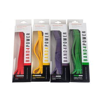 Купить комплект из 4 резиновых петель для занятий спортом