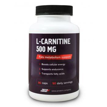 L-Carnitine 500 mg / L-карнитин / Капсулы / 90 порций / 90 капсул
