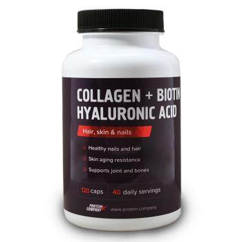 Collagen + Biotin Hyaluronic acid / Коллаген + Биотин / Капсулы / 40 порций / 120 капсул