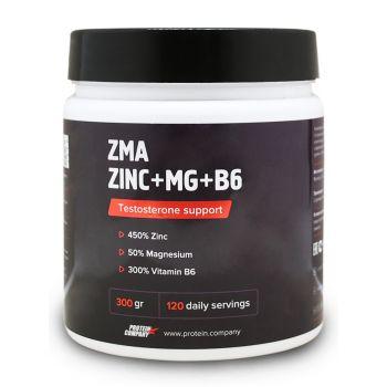 ZMA Zinc + Mg + B6 / ZMA комплекс / Порошок / 120 порций / 300 грамм / вкус натуральный