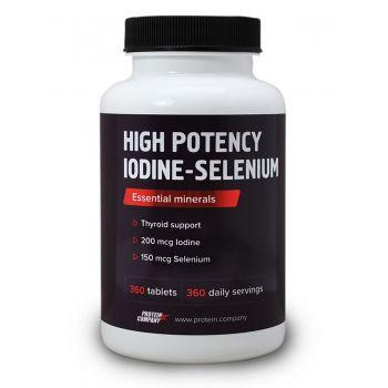 High Potency Iodine-Selenium / Йод + Селен / Таблетки / 360 порций / 360 таблеток / вкус апельсин