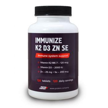 Immunize K2 D3 Zn Se / Витаминный комплекс / Таблетки / 120 порций / 120 таблеток / вкус лимон