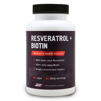 Resveratrol + Biotin / Ресвератрол + Биотин / Капсулы / 90 порций / 90 капсул