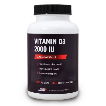 Vitamin D3 2000 IU / Витамин D3 / Таблетки / 360 порций / 360 таблеток / вкус ваниль