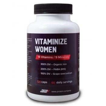 Vitaminize women / Мультивитамины женские / Капсулы / 60 порций / 120 капсул