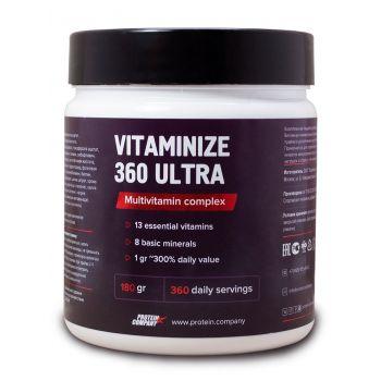 Vitaminize-360 ultra / Мультивитамины спорт / Порошок / 360 порций / 180 грамм / вкус натуральный